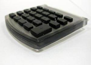 3D Printed Keyboard in Transparent and Black Materials
