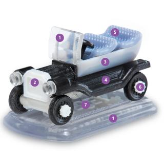 Car Representing all 3D Objet Printing Materials