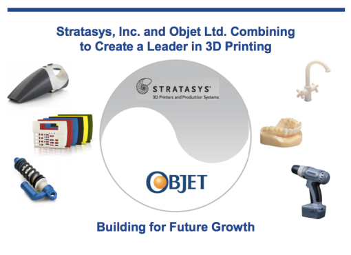 Objet and Stratasys Combine to Create a Leader in 3D Printing