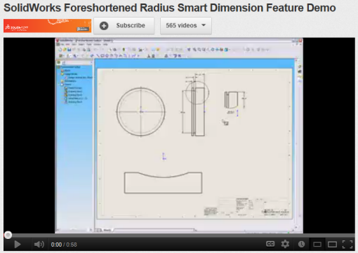 SolidWorks Foreshortened Dimensions YouTube Video